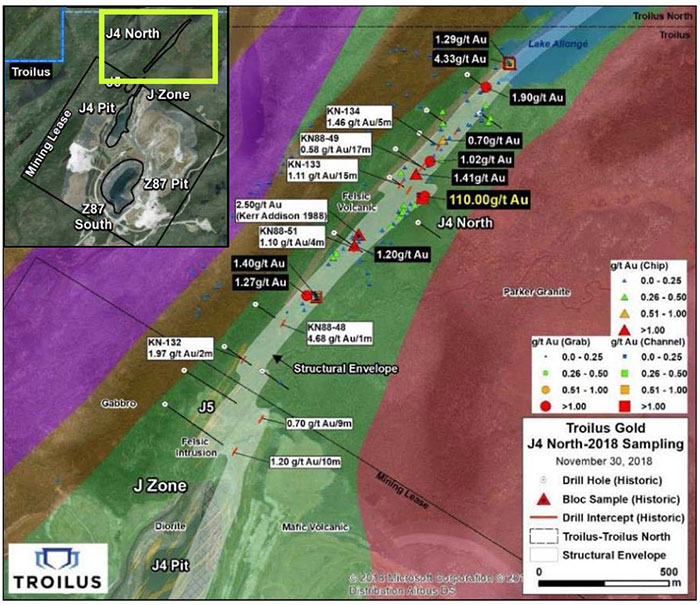 J4 North Geology and Sampling Results